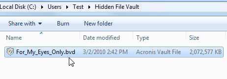 File Vault Successfully Created