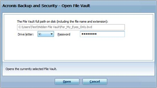 Open the File Vault